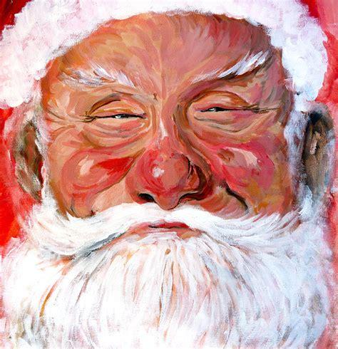 painting santa claus santa claus by tom roderick