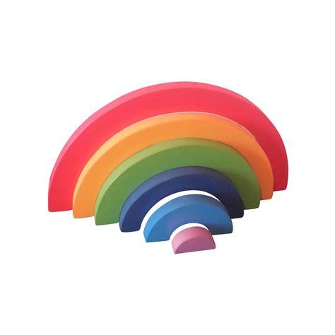 rainbow puzzle large wooden rainbow puzzle jigzoos australia jigzoos