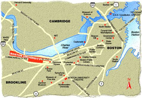 boston college map boston area colleges map images