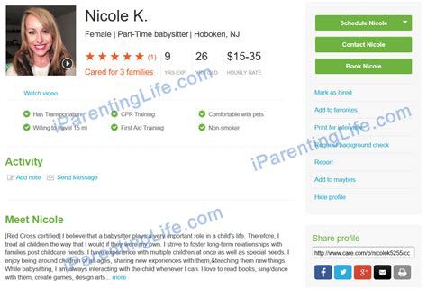 nanny bio examples care com background check 5 187 background check all