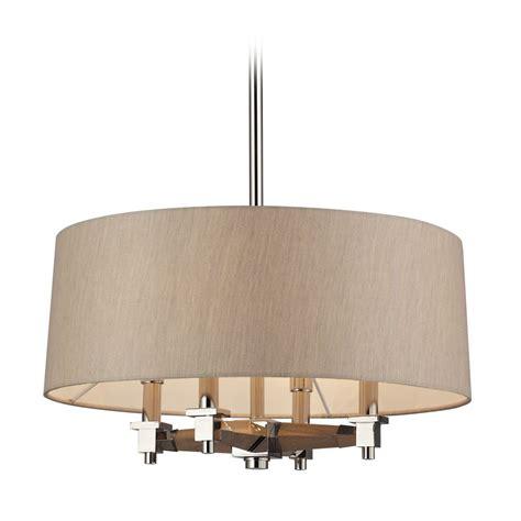 Modern Drum Pendant Lighting Modern Drum Pendant Lights In Polished Nickel Finish 31335 4 Destination Lighting