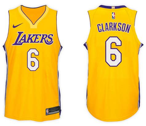 Jersey Authentic Nike Bryant Lakers Black Nba Stitched Jersey Sz los angeles lakers 6 clarkson black purple no stitched nba jersey