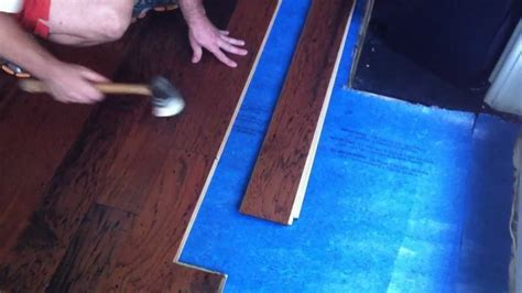 How to install engineered hardwood flooring   lock and