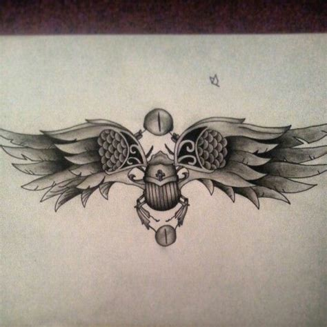 scarab beetle egyptian tattoo sketch cool stuff