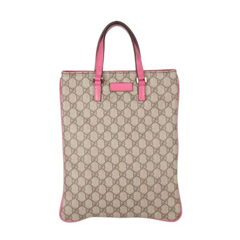 gucci monogram canvas shopping bag tote handbag  pink