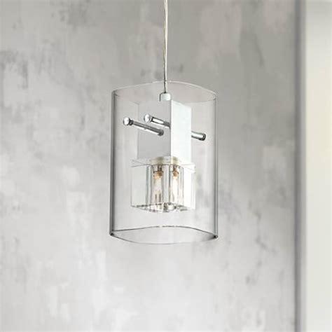 clear glass mini pendant light chrome with clear glass 4 3 4 quot wide mini pendant light