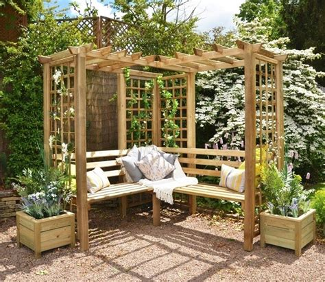 pergola with bench 45 garden arbor bench design ideas diy kits you can