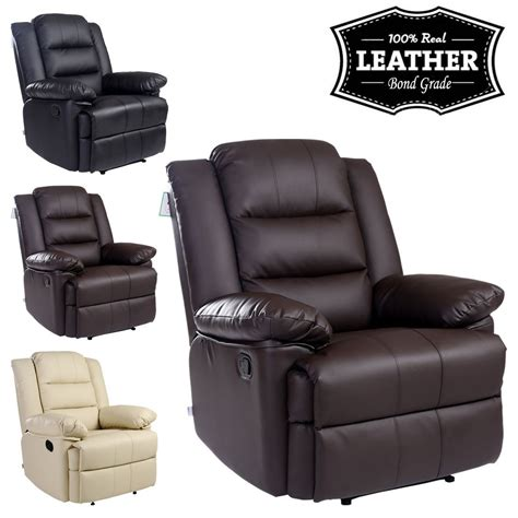 leather recliner armchairs loxley leather recliner armchair sofa home lounge chair