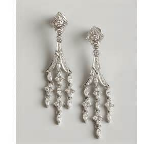 White Gold Chandelier Earrings Kwiat White Gold And Chandelier Earrings In White