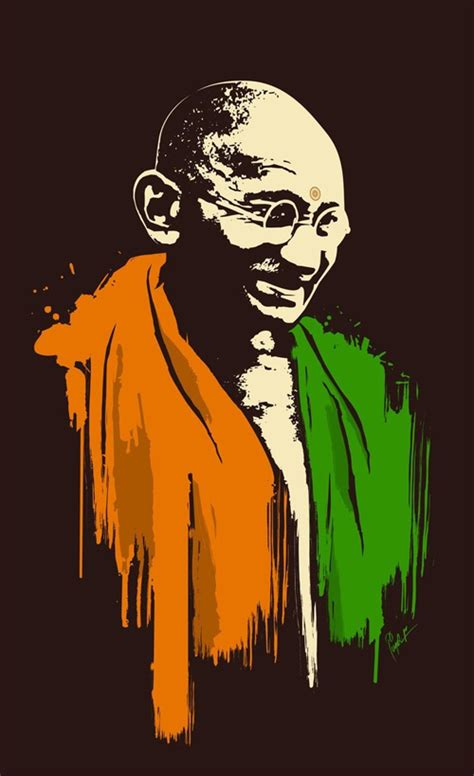 picture illustration an artwork collection mahatma great soul gandhi naldz
