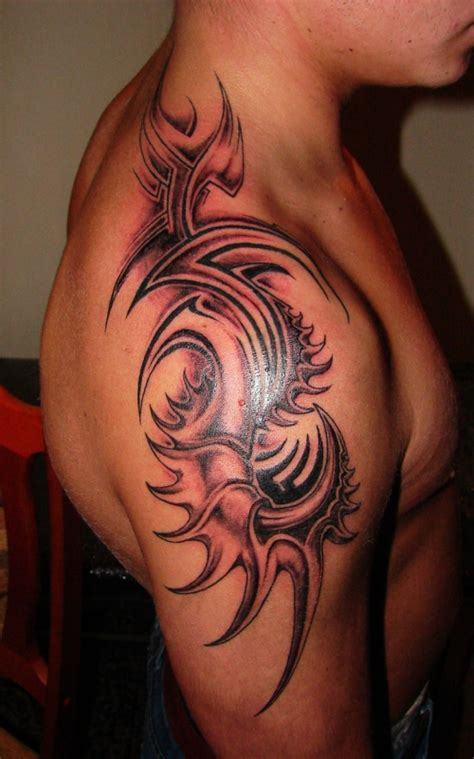 tribal tattoos klein 25 tribal shoulder tattoos which are awesome creativefan