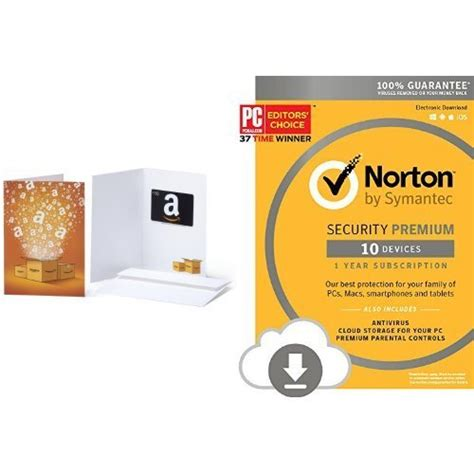 Premium Software Gift Card - norton security premium 10 devices download code with amazon com 10 gift card