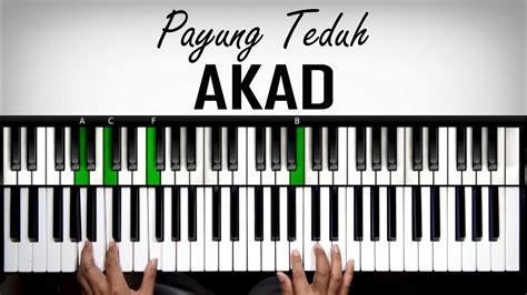 tutorial keyboard lagu rindu belajar keyboard akad payung teduh tutorial advanced