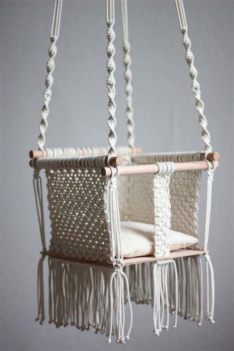 Handmade Swing - handmade macram 233 baby swing is a product macrame diy