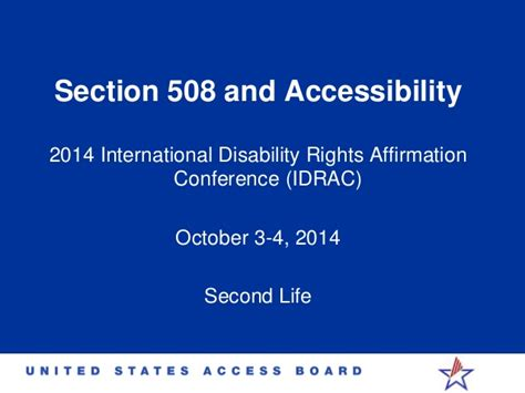 section 508 web accessibility standards section 508 accessibility idrac 2014 timothy creagon