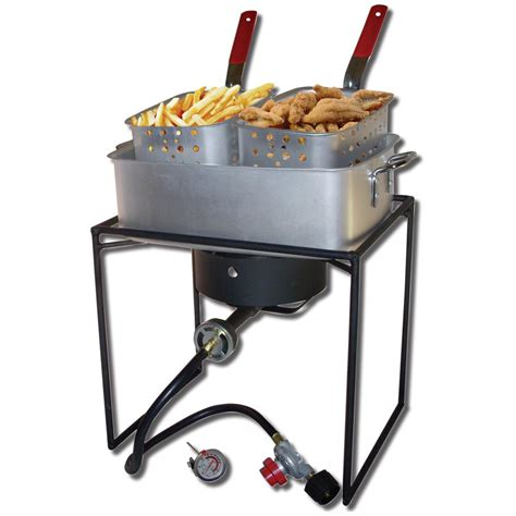 Cing Cooker With Grill by King Kooker 174 16 Quot Outdoor Cooker Package With Pot And