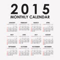 Free Downloadable 2015 Calendar Template by Simple Black Calendar 2015 Vector Free Vector Graphic
