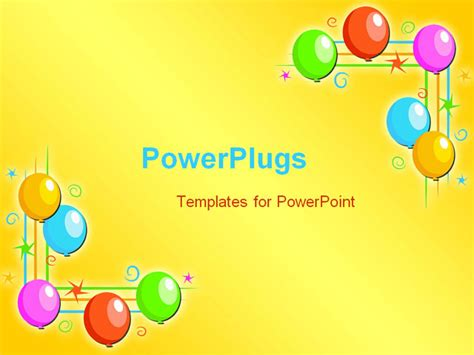 powerpoint templates for birthday presentations best powerpoint template birthday balloons background