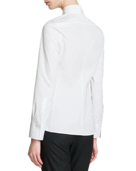 Flap Detail Blouse jil sander front flap cotton blouse
