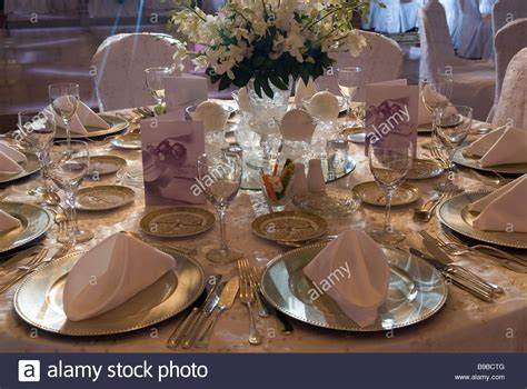 wedding reception table settings photos table setting for a wedding reception beirut lebanon middle stock photo 22993840 alamy