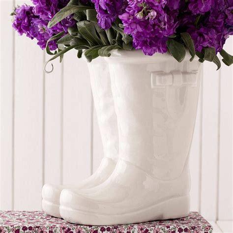 Boot Flower Vase by Porcelain Wellington Boot Vase Battswood Barn