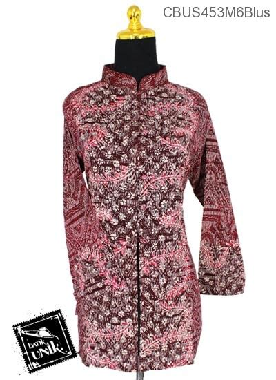 Baju Batik Kemeja Panjang Batik Minu Daun baju batik sarimbit blus motif daun sisik alas blus panjang murah batikunik