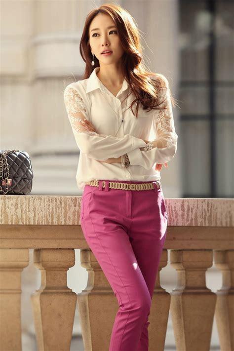 Blus Import Korea busana kerja wanita korea terbaru blus import bigsize