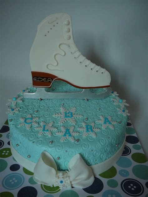ice skating cake cakecentralcom
