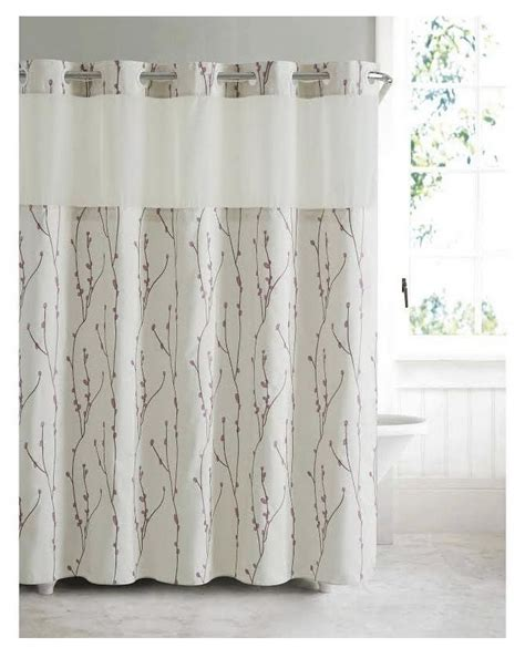 Hookless Cherry Bloom Shower Curtain With Peva Liner