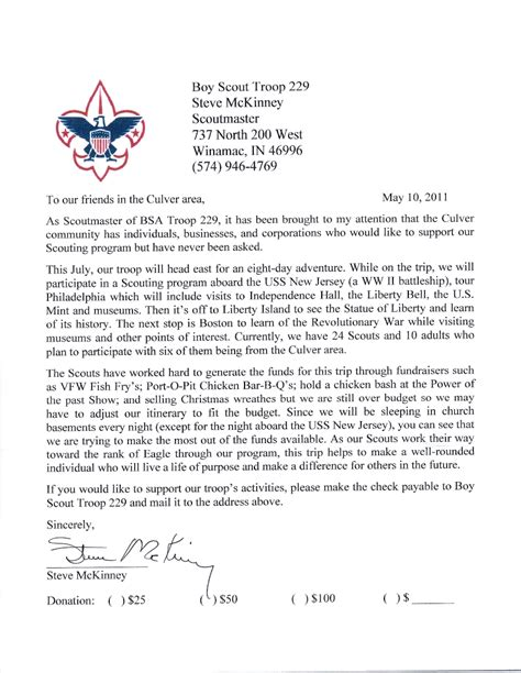 Fundraising Letter For Boy Scouts Eagle Scout Fundraising Letter Pictures To Pin On Pinsdaddy