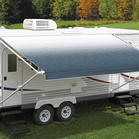 carefree awnings australia 13ft blue shale fade roll out awning no arms