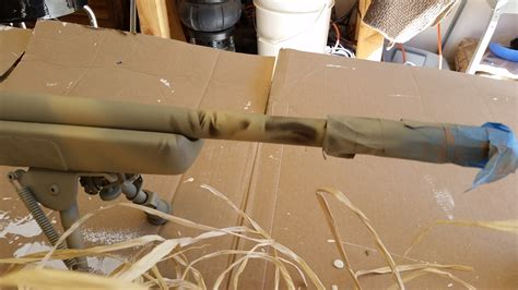 spray painting your rifle weapon system visual signature reduction aka spray