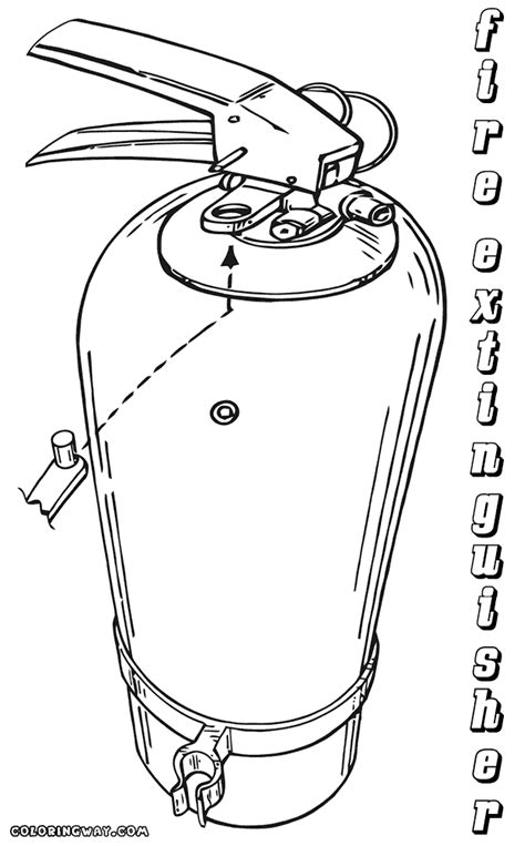 fire extinguisher coloring pages coloring pages to