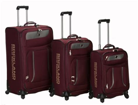 Spinner Polos Packing rockland luggage navigator spinner polo equipment 3 luggage set burgundy one size