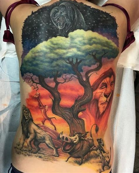 mufasa tattoo king tattoos hakuna matata simba and nala