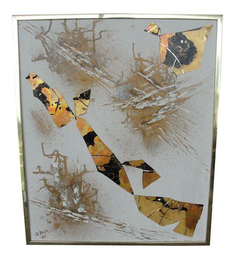 decoupage photos on canvas vintage abstract decoupage on canvas chairish