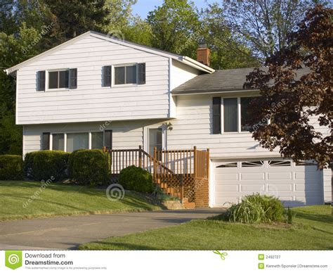 Level A House by Split Level House Royalty Free Stock Photography Image
