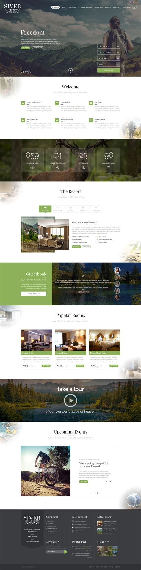 website template luxury hotels and carousels on pinterest siver luxury resort psd template by ant farm themeforest