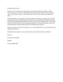 Writing A Recommendation Letter For A Preschool Sle Letter Of Recommendation For Letter Of Recommendation
