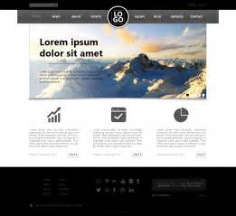homepage template well designed psd website templates for free