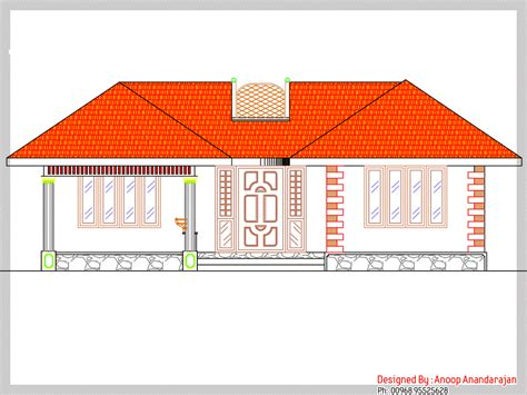1170 square feet floor plan and elevation kerala home 1170 square feet 3 bedroom single floor low budget kerala
