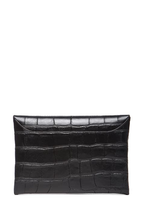 Givenchy Antigona Croco 1081 L givenchy medium sted croc antigona envelope in black