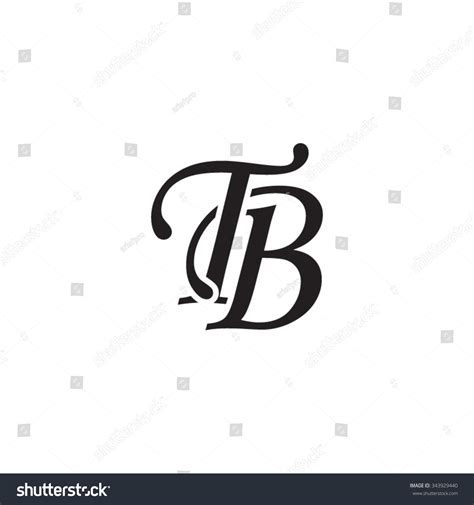 Tb T Shop New Designs by Tb Initial Monogram Logo Stock Vector 343929440