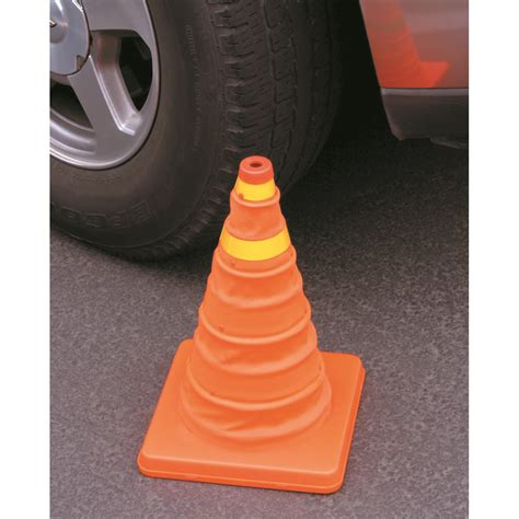 collapsible reflective emergency cone