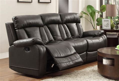 Cheap Recliner Sofas For Sale Black Leather Reclining Black Reclining Leather Sofa