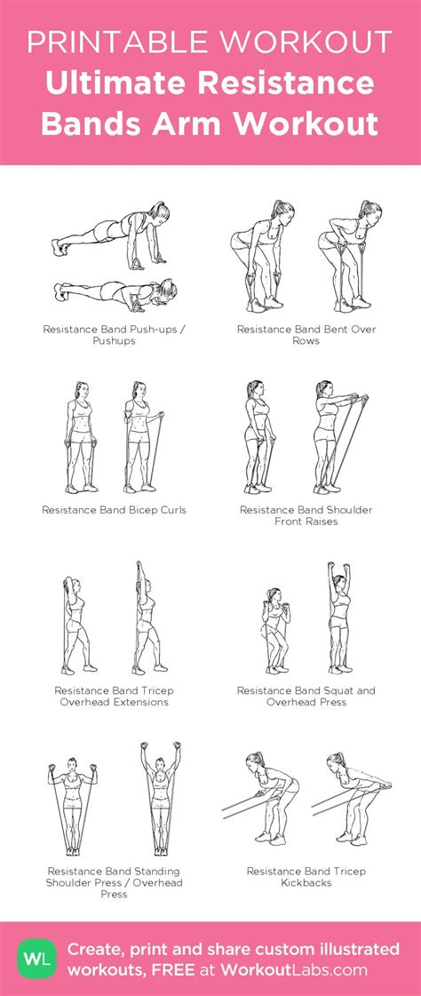 printable exercise band workouts 160 bedste billeder om free printable workouts p 229