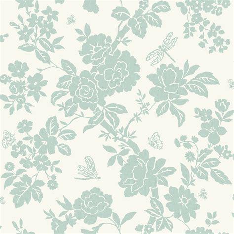 wallpaper duck egg blue nina duck egg floral wallpaper departments diy at b q