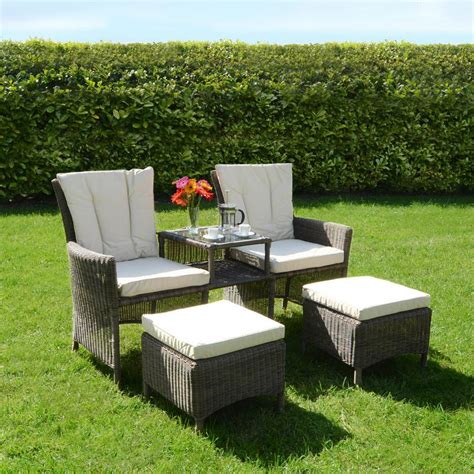azuma bordeaux 3 pc companion set wicker rattan garden
