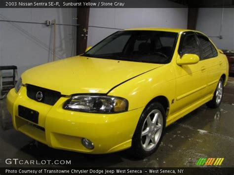 nissan sentra yellow sunburst yellow 2003 nissan sentra se r gray