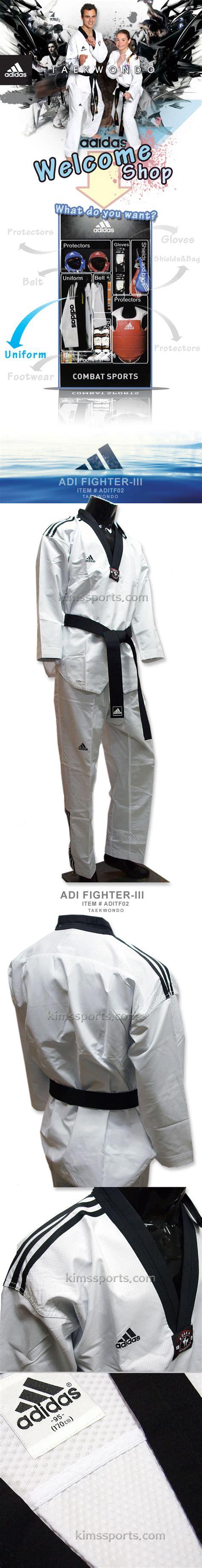 Dobok Adidas Fighter New Iii adidas adi fighter new 3 stripe taekwondo